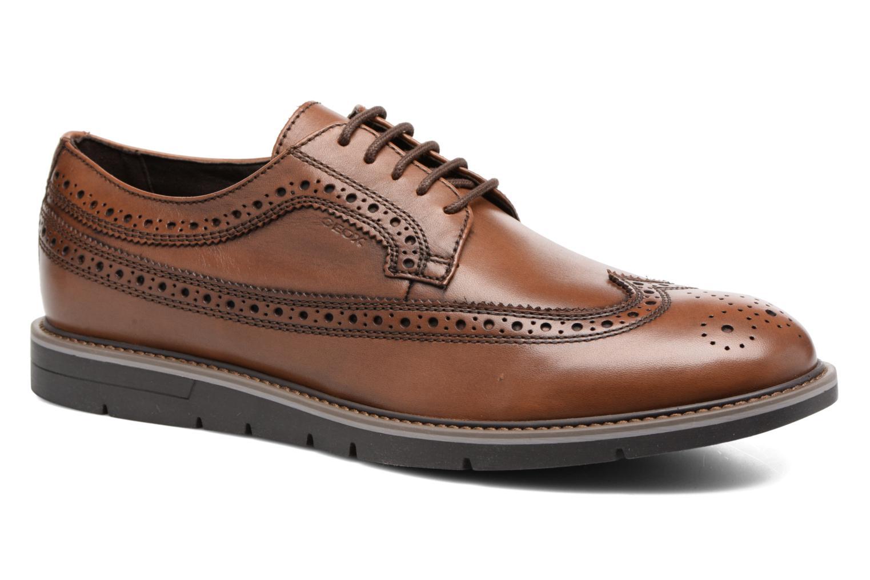 Chaussures à lacets Geox U Uvet A U722QA Marron vue détail/paire