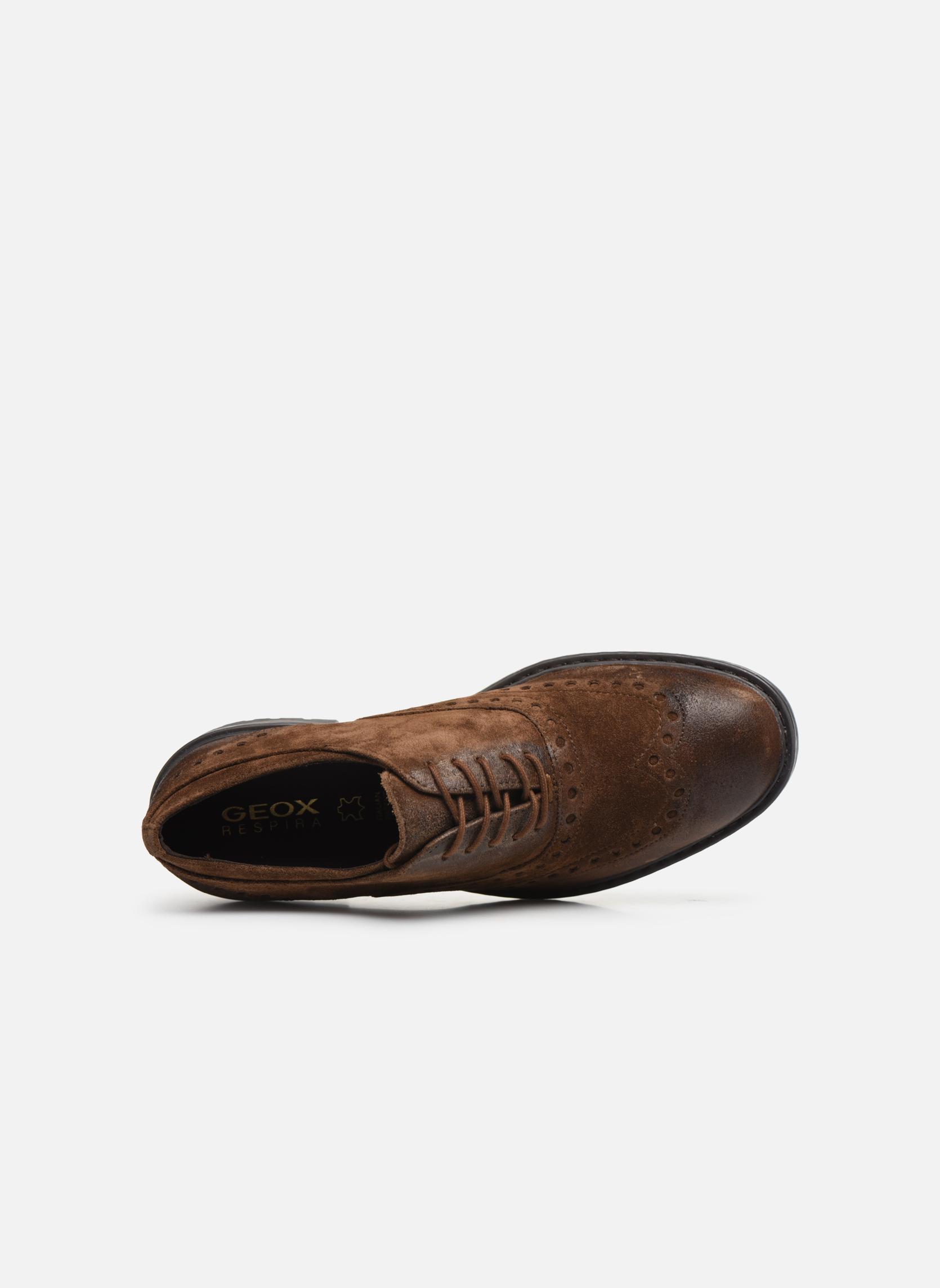Chaussures à lacets Geox U Kapsian A U743PA Marron vue gauche