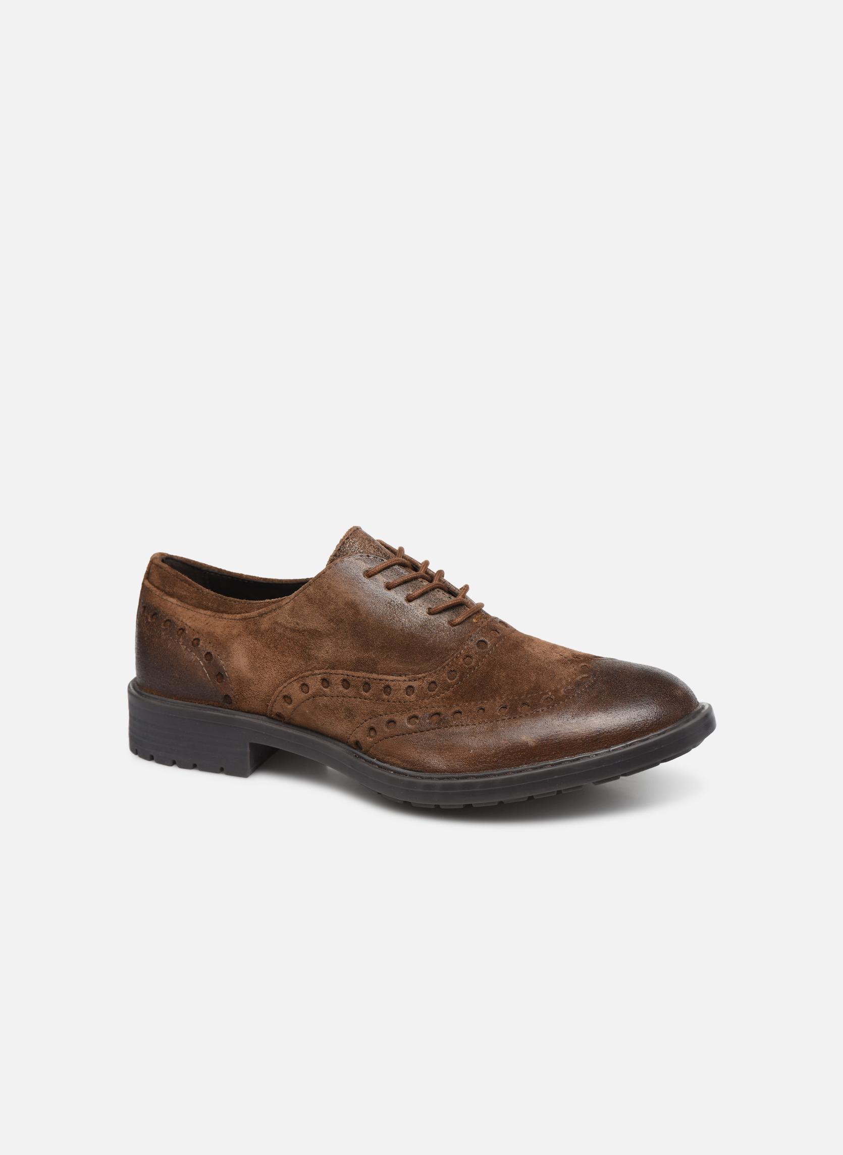 Chaussures à lacets Geox U Kapsian A U743PA Marron vue détail/paire