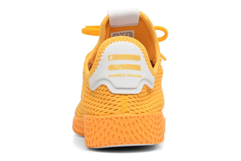 Baskets Adidas Originals Pharrell Williams Tennis Hu Jaune vue droite