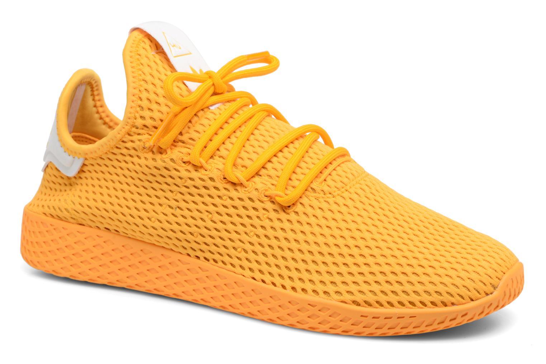 Baskets Adidas Originals Pharrell Williams Tennis Hu Jaune vue détail/paire