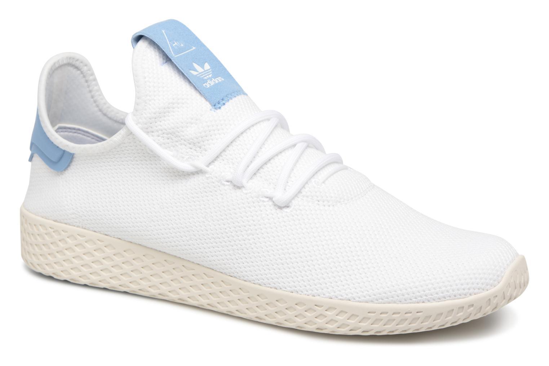 Baskets Adidas Originals Pharrell Williams Tennis Hu Blanc vue détail/paire