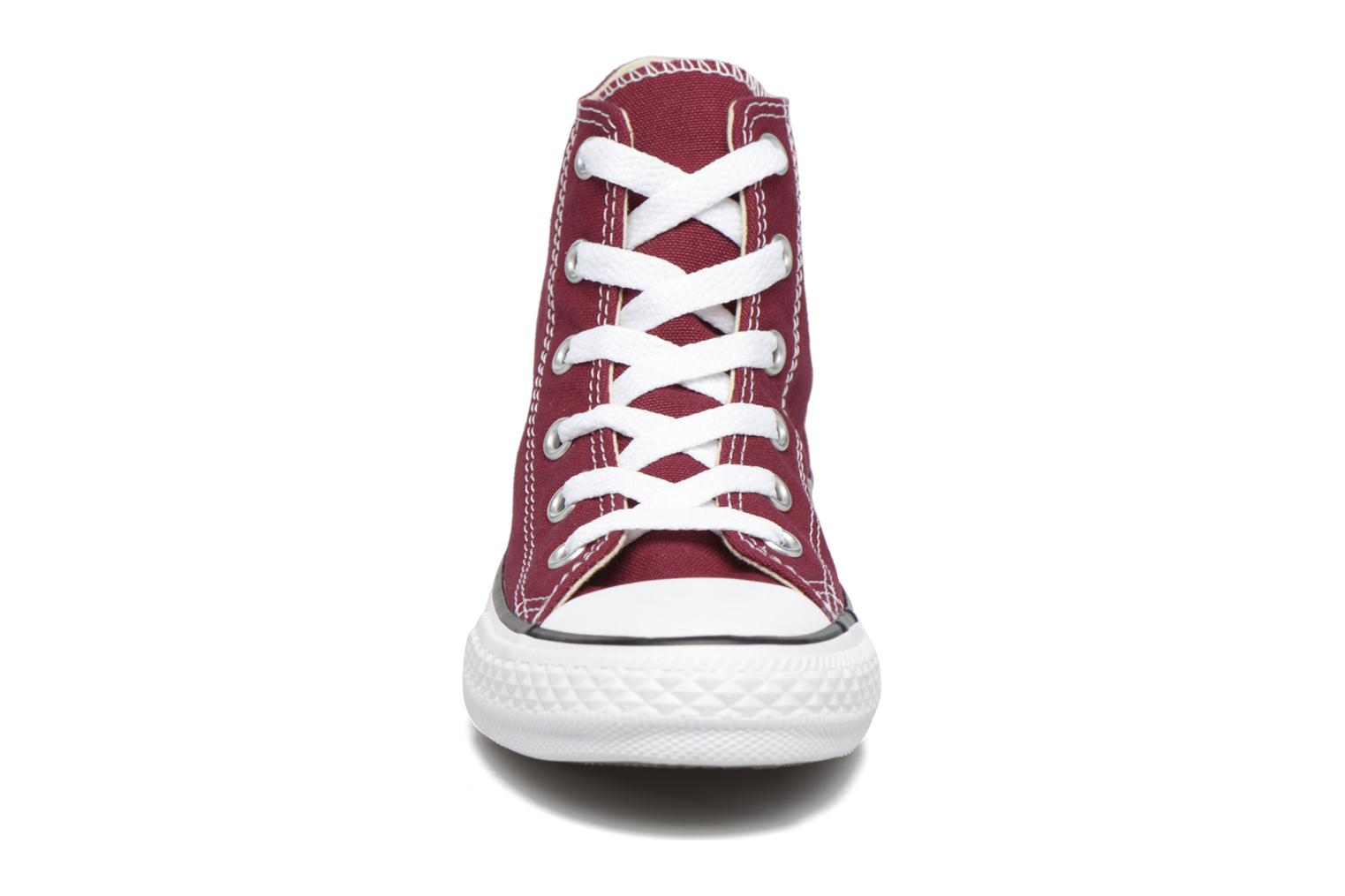 Trainers Converse Chuck Taylor Hi Burgundy model view
