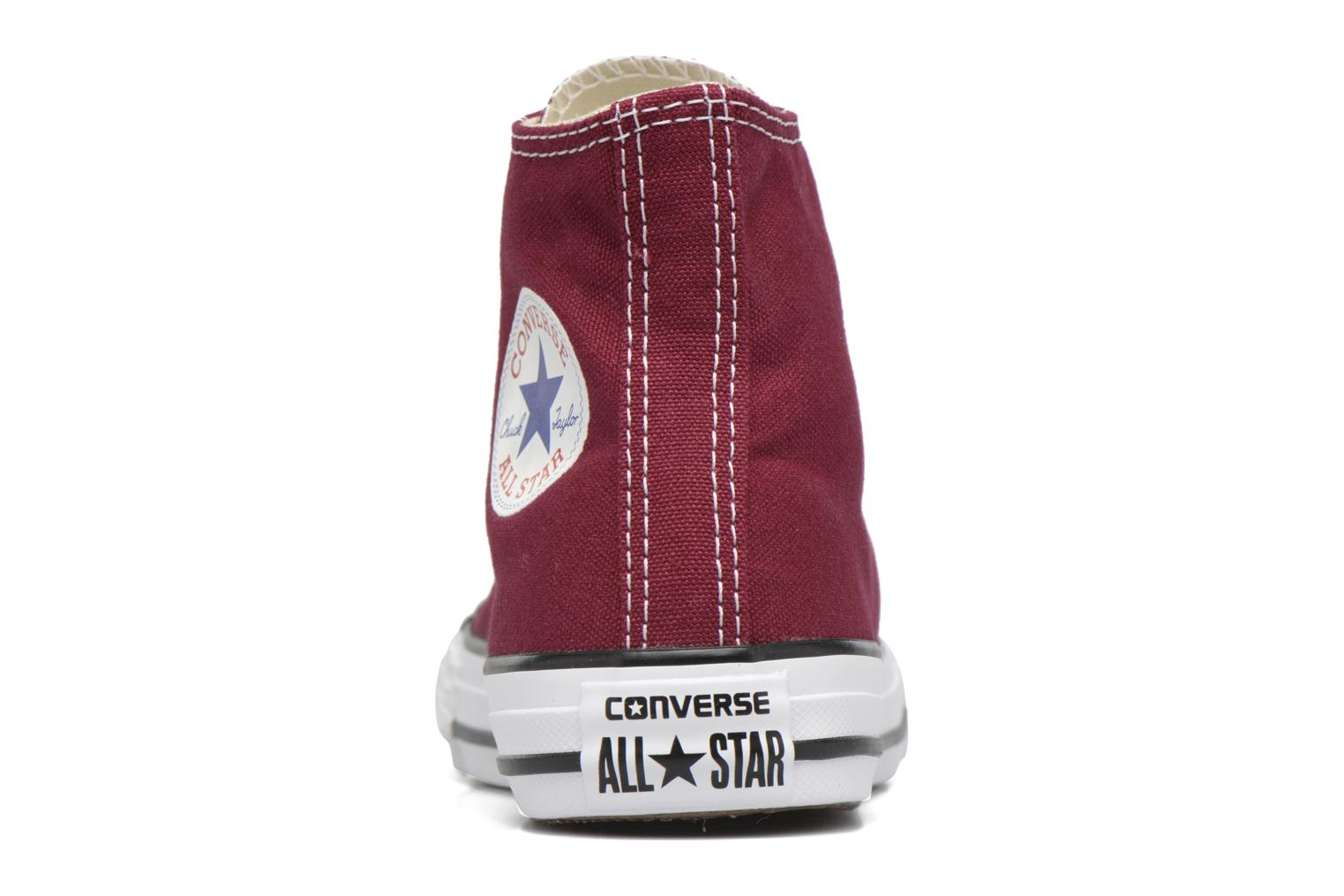 Trainers Converse Chuck Taylor Hi Burgundy view from the right