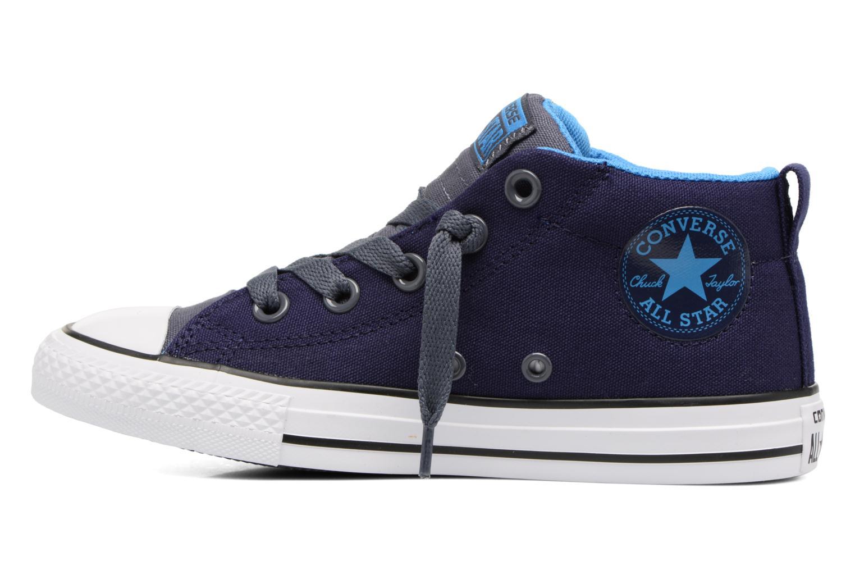 Baskets Converse Chuck Taylor All Star Street Leather Mid Bleu vue face