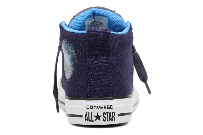 Sneaker Converse Chuck Taylor All Star Street Leather Mid blau ansicht von rechts