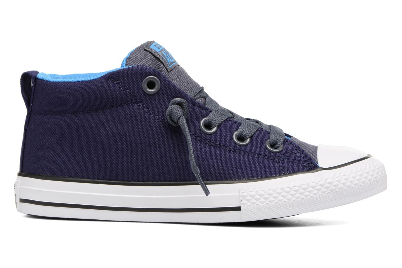 Sneaker Converse Chuck Taylor All Star Street Leather Mid blau ansicht von hinten