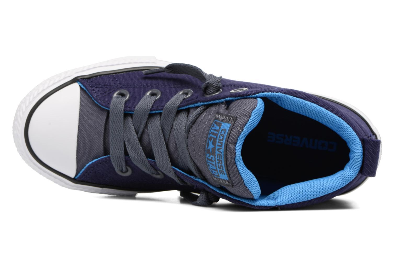 Baskets Converse Chuck Taylor All Star Street Leather Mid Bleu vue gauche