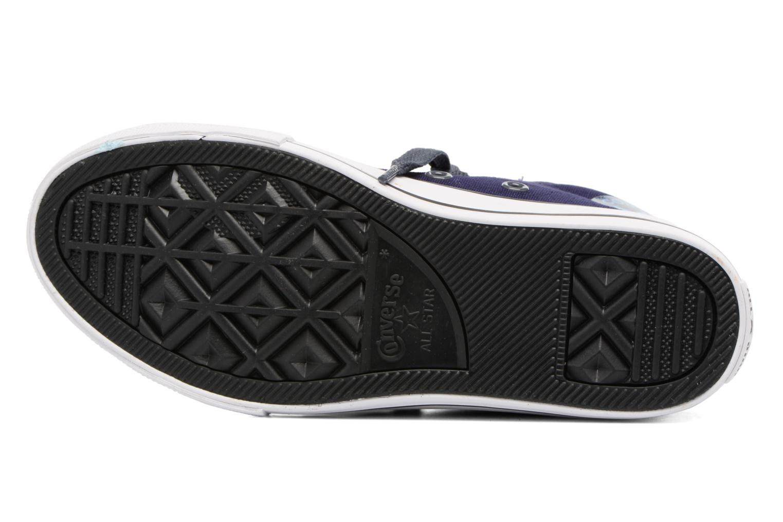 Baskets Converse Chuck Taylor All Star Street Leather Mid Bleu vue haut