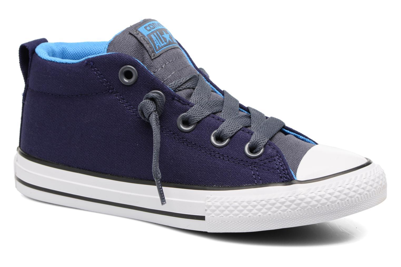 Baskets Converse Chuck Taylor All Star Street Leather Mid Bleu vue détail/paire