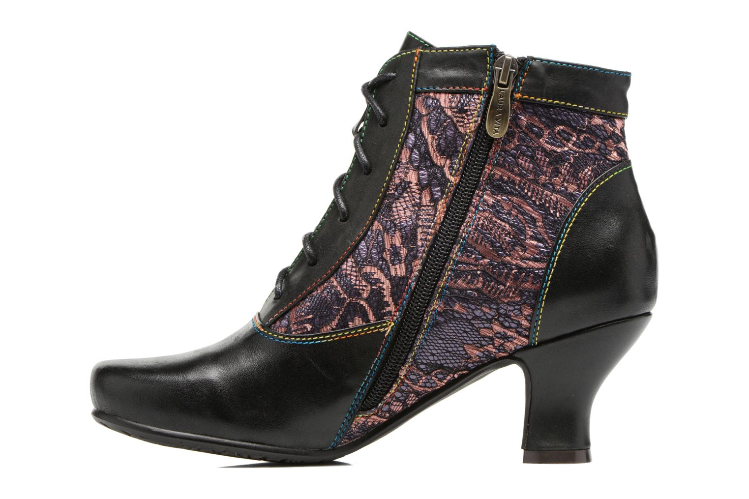Ankle boots Laura Vita Candice 03 Black front view