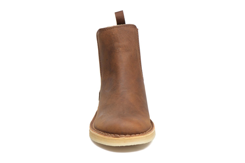 Bottines et boots Clarks Originals DESERT PEAK W Marron vue portées chaussures