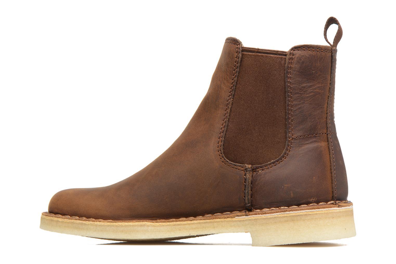 Boots en enkellaarsjes Clarks Originals DESERT PEAK W Bruin voorkant