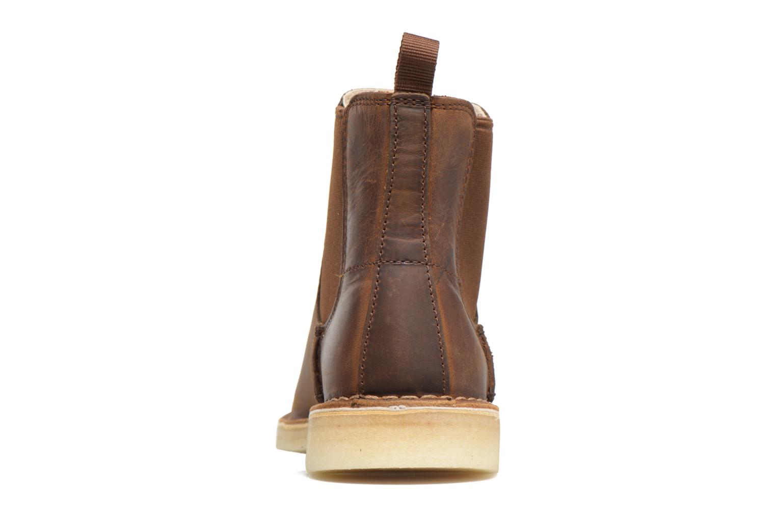 Ankle boots Clarks Originals DESERT PEAK W Brown view from the right