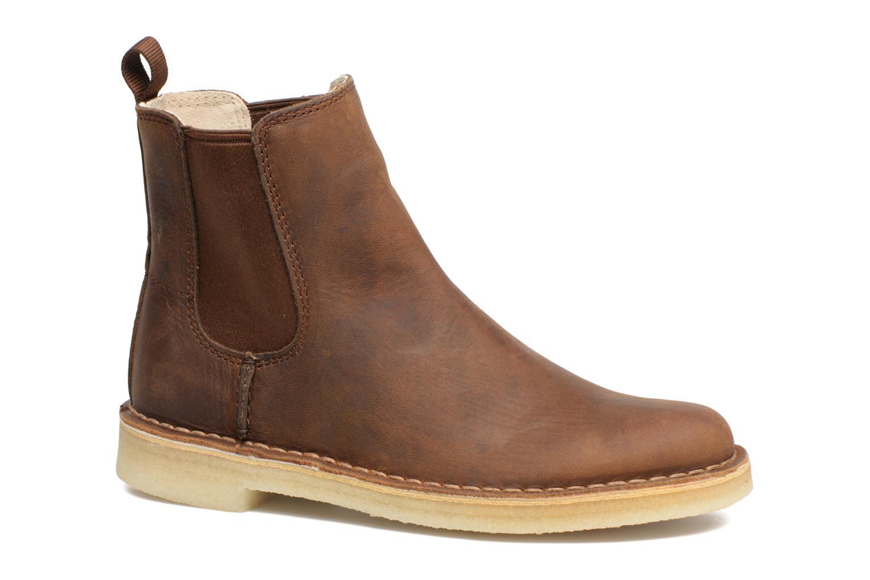 Bottines et boots Clarks Originals DESERT PEAK W Marron vue détail/paire