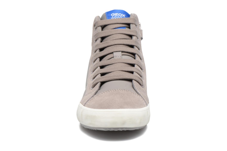 Baskets Geox J Alonisso B. A J742CA Gris vue portées chaussures