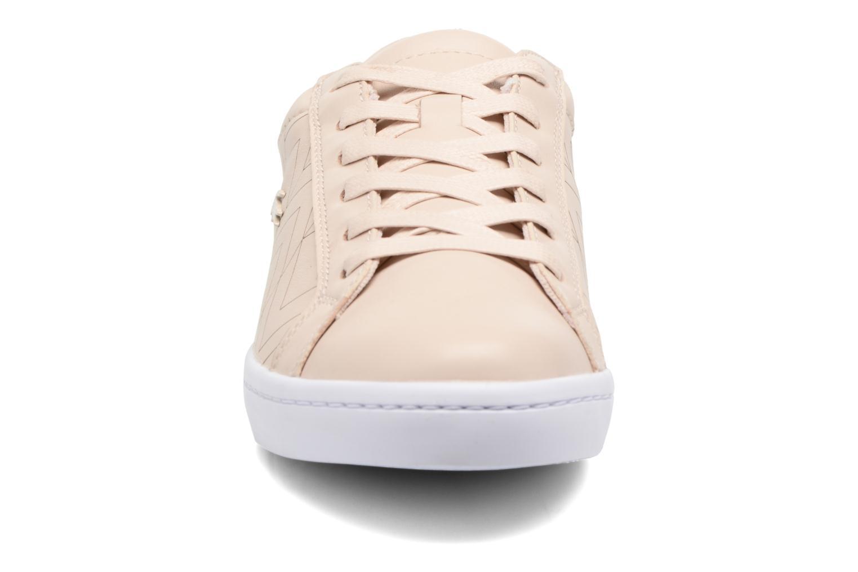 Baskets Lacoste Straightset Lace 417 1 Beige vue portées chaussures