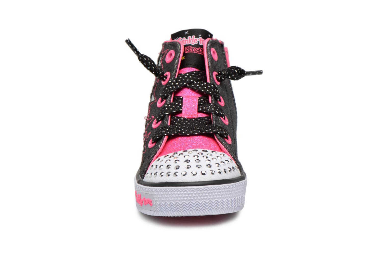 Sneakers Skechers Shuffles Lil Rockin Stars Nero modello indossato