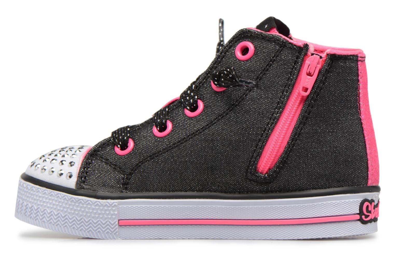 Sneakers Skechers Shuffles Lil Rockin Stars Zwart voorkant