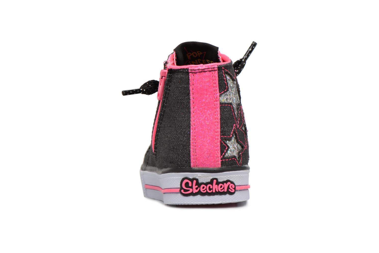 Sneakers Skechers Shuffles Lil Rockin Stars Zwart rechts