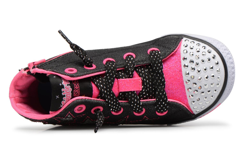 Sneakers Skechers Shuffles Lil Rockin Stars Zwart links