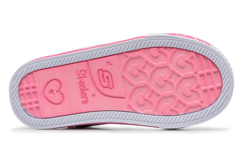 Sneakers Skechers Shuffles Lil Rockin Stars Nero immagine dall'alto