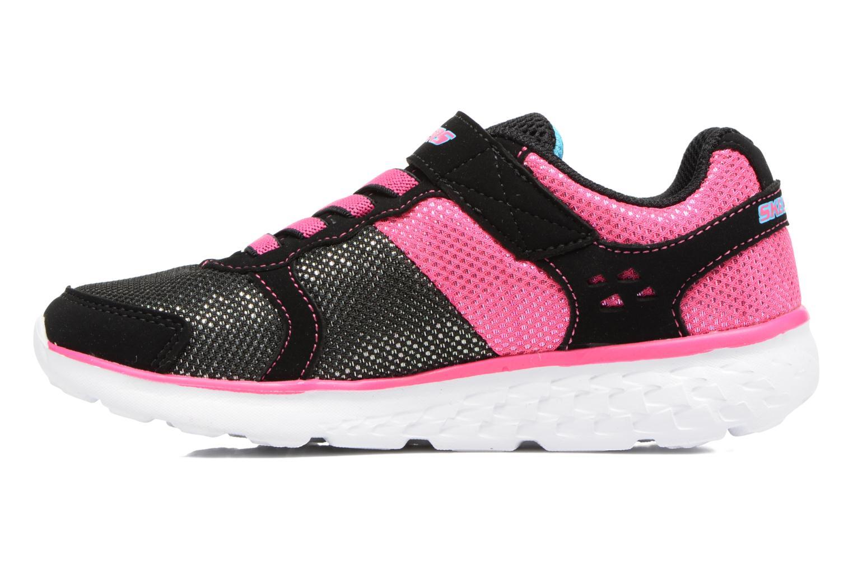 Chaussures de sport Skechers Go Run 400 Sparkle Sprinters Noir vue face