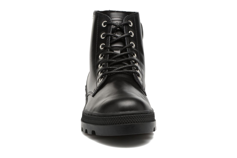 Bottines et boots Palladium Pallabosse Mid Noir vue portées chaussures