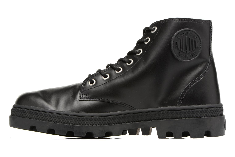 Boots en enkellaarsjes Palladium Pallabosse Mid Zwart voorkant