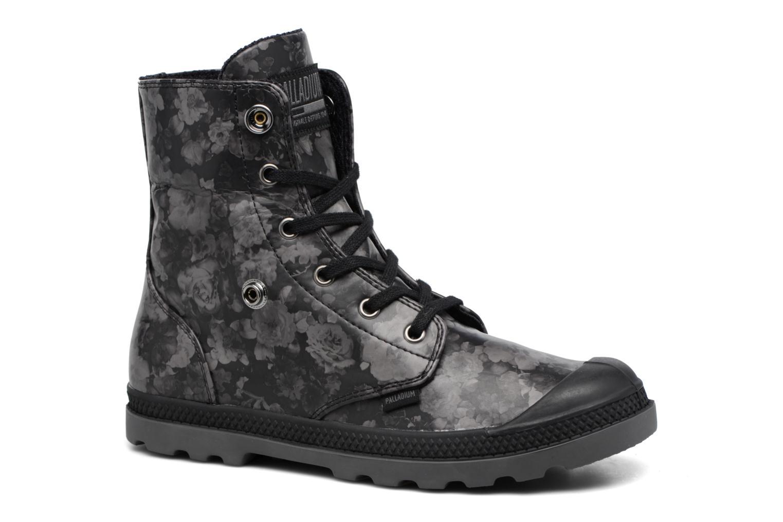 Bottines et boots Palladium Baggy Low Lp Flower Noir vue 3/4