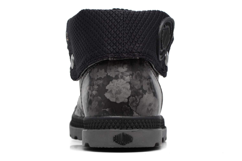 Bottines et boots Palladium Baggy Low Lp Flower Noir vue droite