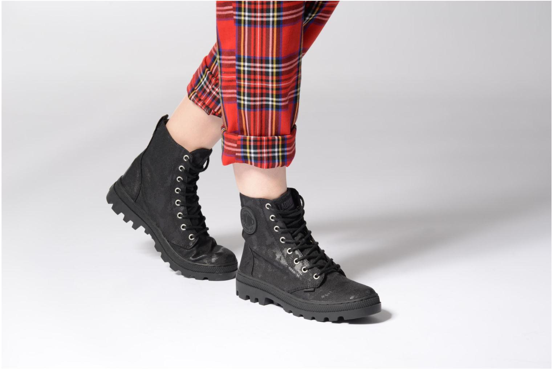 Bottines et boots Palladium Pallabosse OFF CVS Noir vue bas / vue portée sac