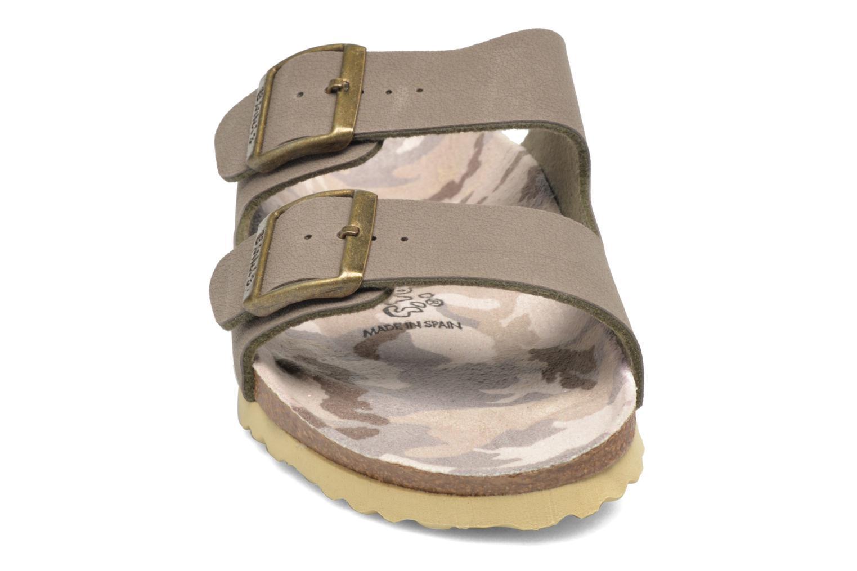 Mules et sabots Birki's Arizona Flor W Gris vue portées chaussures