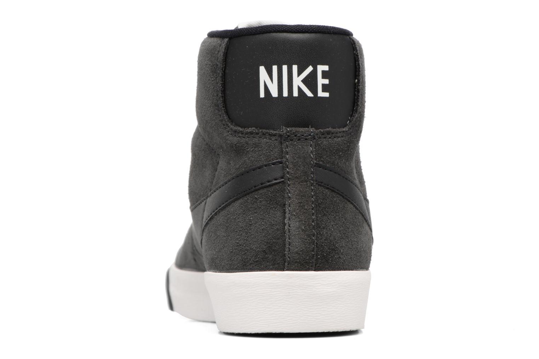 Baskets Nike Wmns Blazer Mid Vntg Suede Gris vue droite