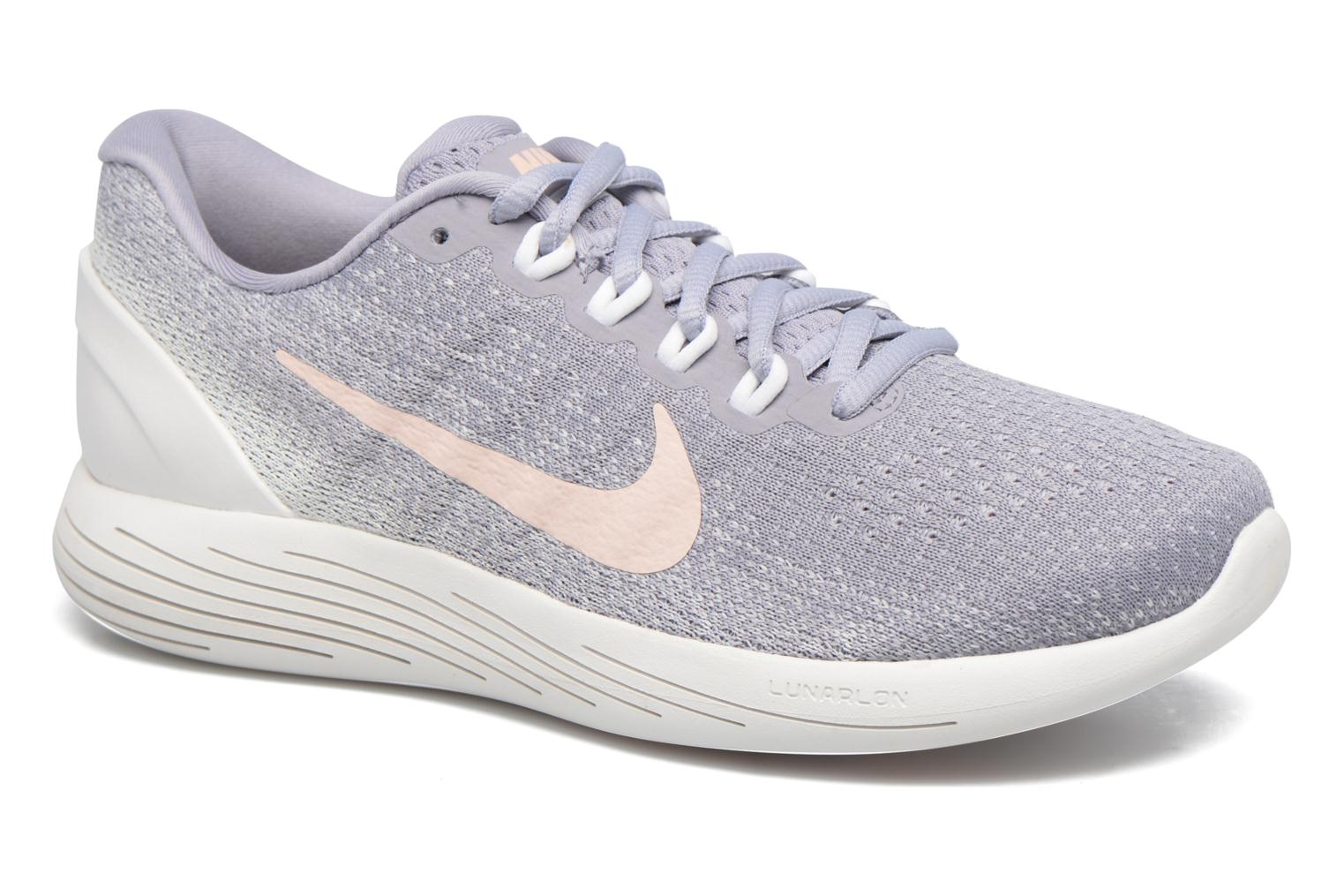 Wmns Nike Lunarglide 9 Provence Purple/Sunset Tint-Summit White