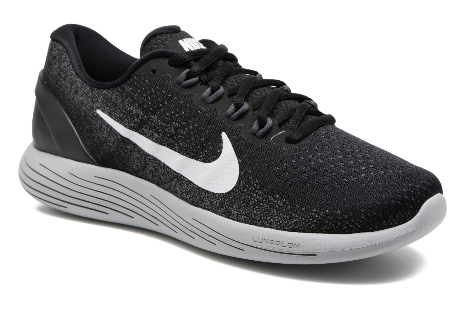 Sport shoes Nike Nike Lunarglide 9 Grey detailed view/ Pair view