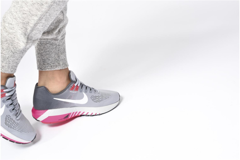 Sportschuhe Nike W Nike Air Zoom Structure 21 blau ansicht von unten / tasche getragen