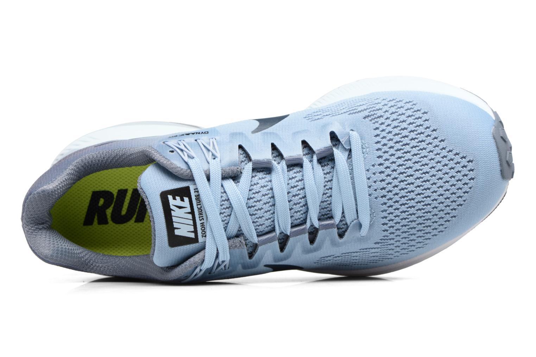 Chaussures de sport Nike W Nike Air Zoom Structure 21 Bleu vue gauche