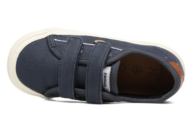 Baskets Faguo Birch Velcro Bleu vue gauche