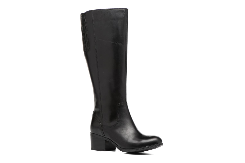 Maypearl Viola Black leather