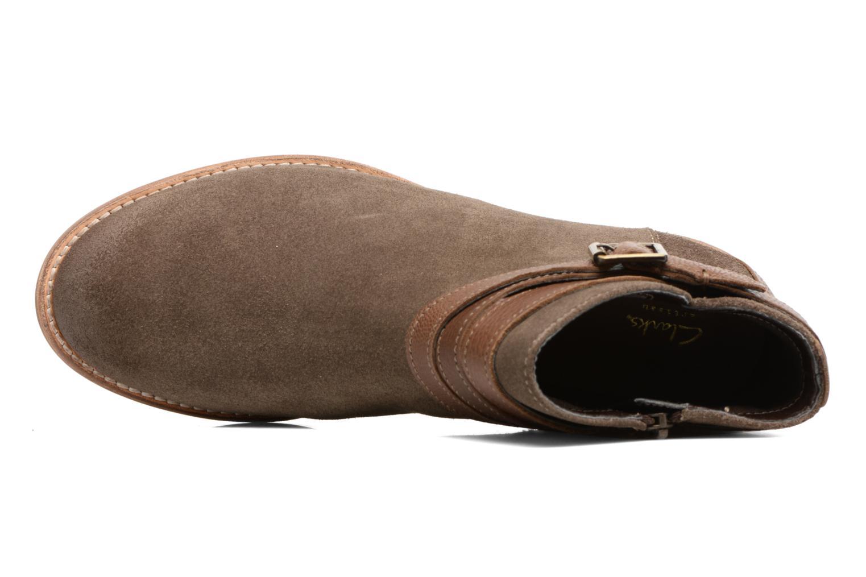 Bottines et boots Clarks Maypearl Edie Marron vue gauche