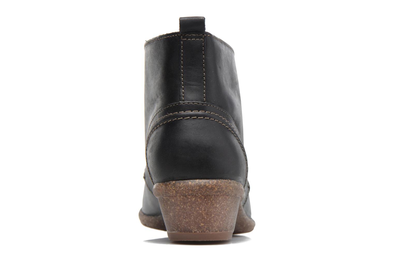 Bottines et boots Clarks Wilrose Sage Noir vue droite