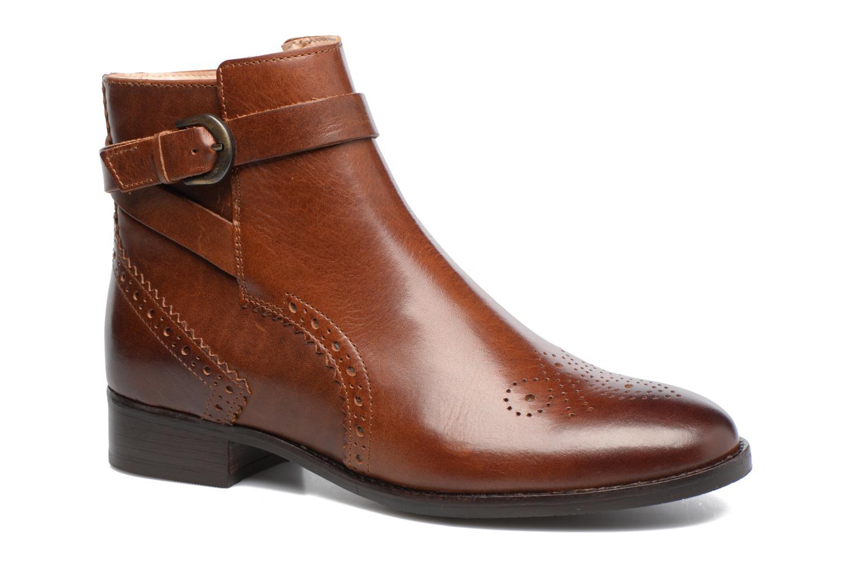 Boots cuir Netley Olivia, Marron Foncé