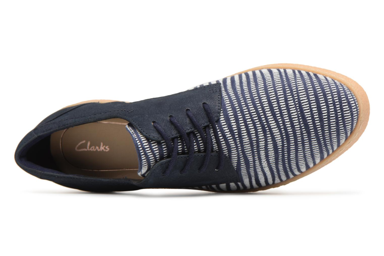 Lace-up shoes Clarks Lillia Lola Blue view from the left