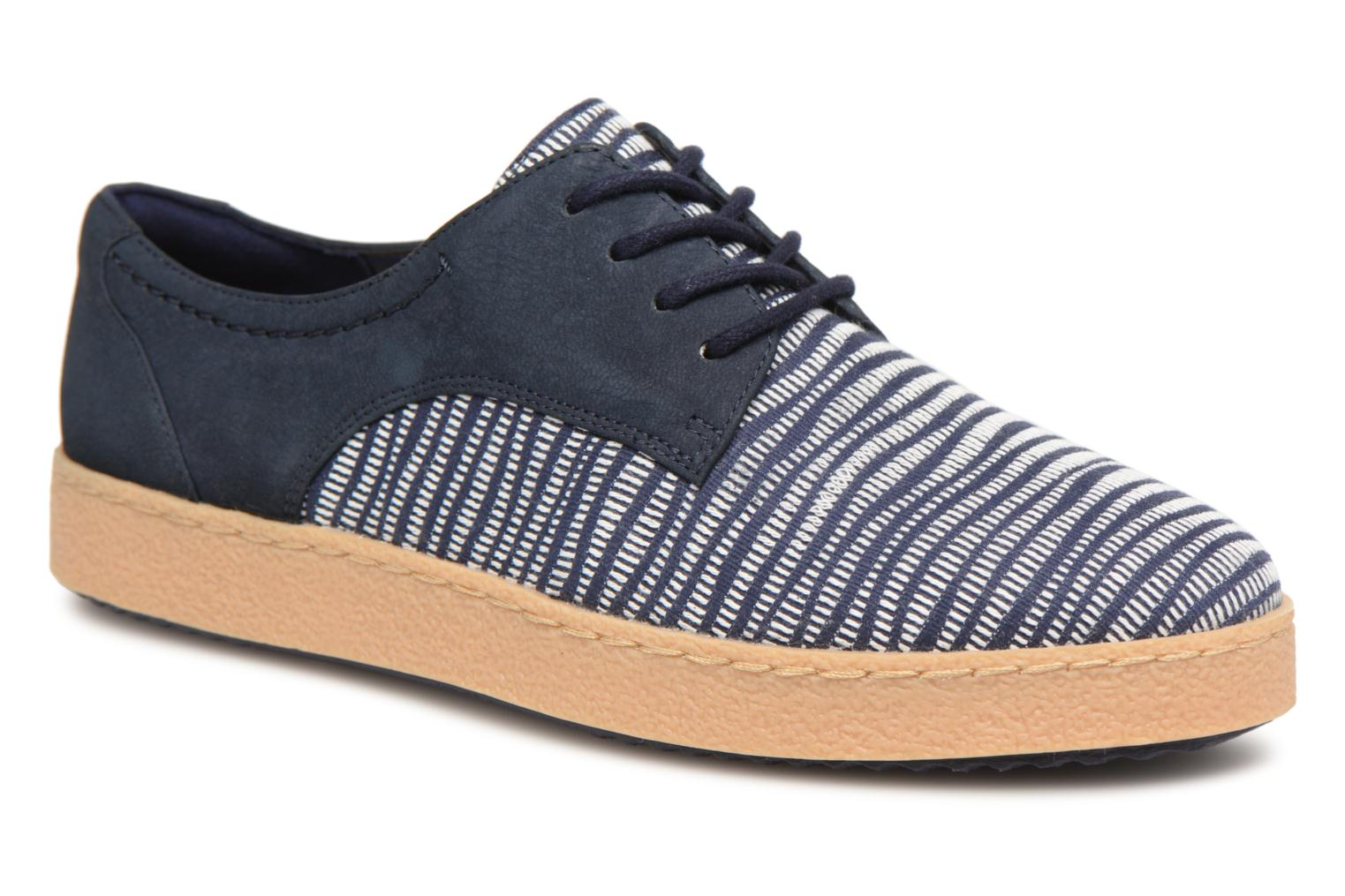 Lace-up shoes Clarks Lillia Lola Blue detailed view/ Pair view