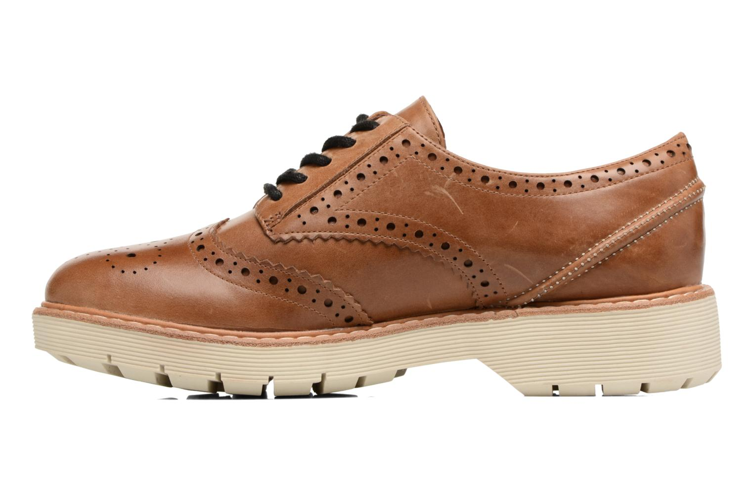 Lace-up shoes Clarks Witcombe Echo Brown view from the right