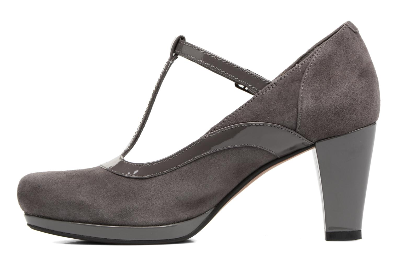Escarpins Clarks Chorus Pitch Gris vue face