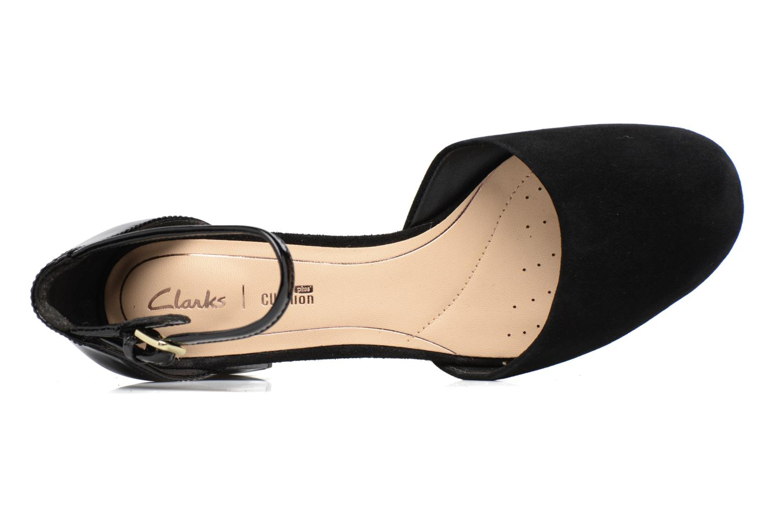 High heels Clarks Orabella Wish Black view from the left