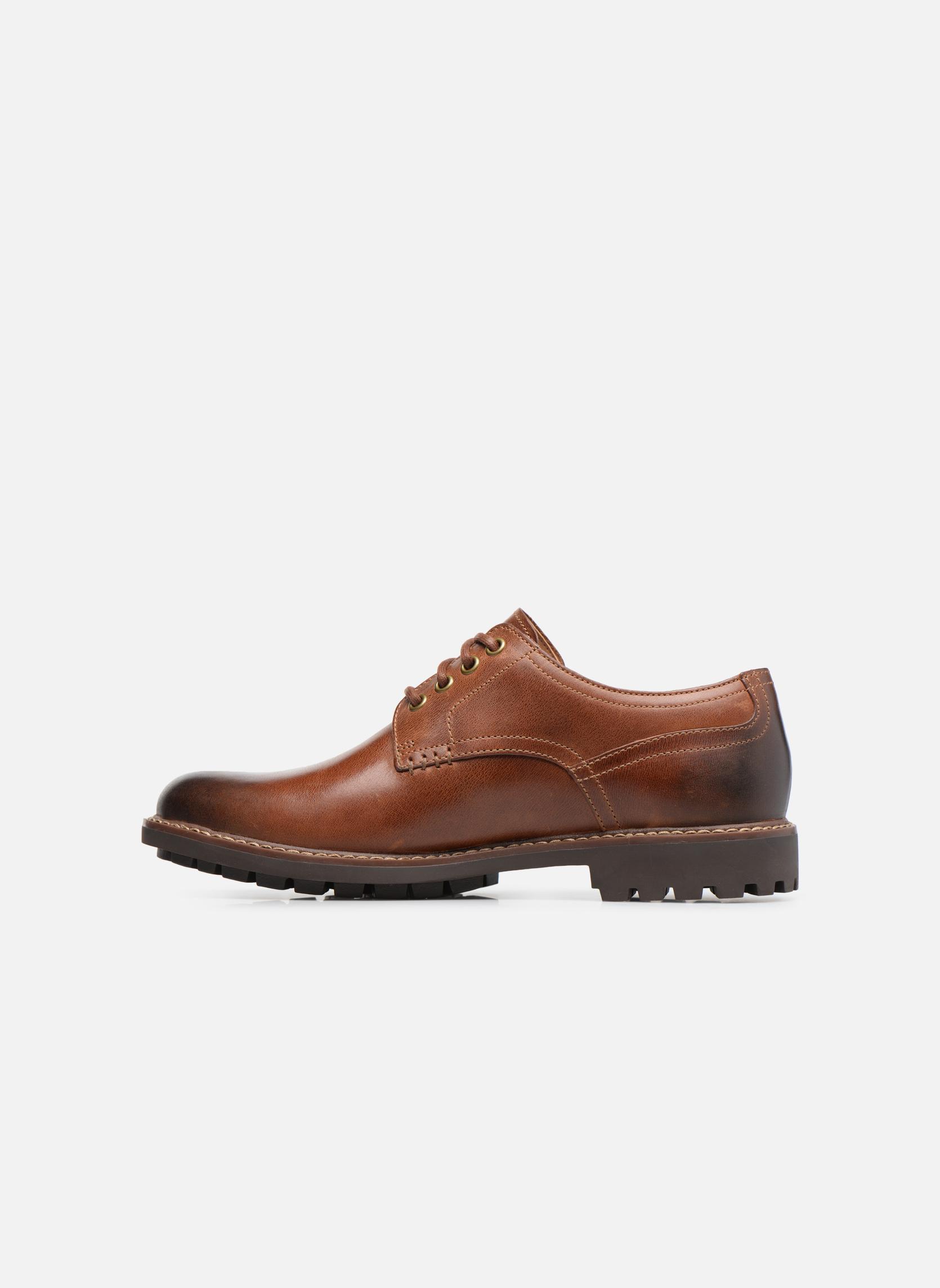Chaussures à lacets Clarks Montacute Hall Marron vue face