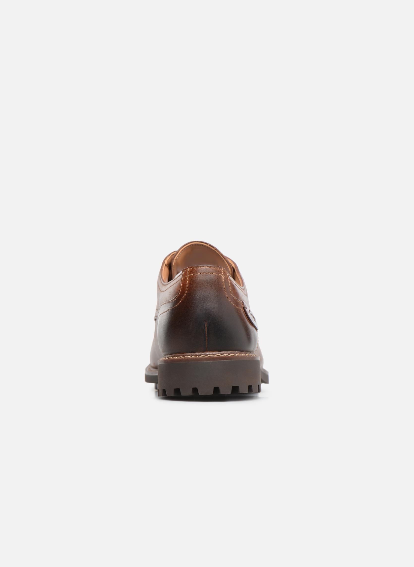 Chaussures à lacets Clarks Montacute Hall Marron vue droite